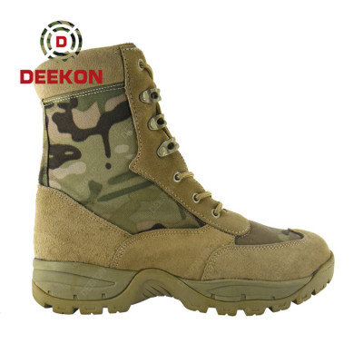 Multicam Camouflage Waterproof High Quality Hiking Hunting Shoes Military Safety Tactical Combat Boots