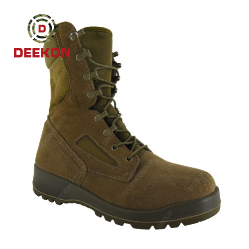 Lace up Dark Khaki Army Military Desert Tactical Boots for men