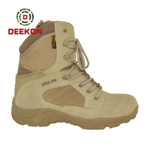 High Quality Men Suede Leather Army Tactical Shoes Military Boot