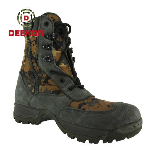 Durable Military Army Green Digital Camouflage Boots For Army Using