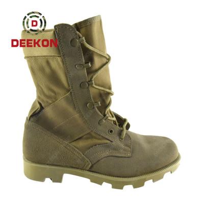 High Quality men Combat Assault Outdoor Desert Training Leather Anti-Slip Desert boot