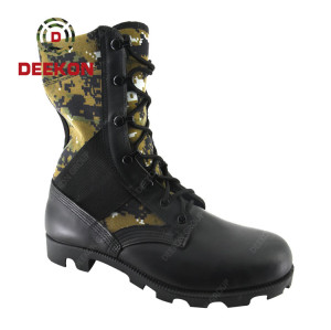 Deekon Military Tactical Army Boots with Peru Camouflage Canvas For Hiking
