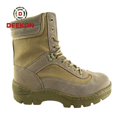 Tactical High Quality Leather Waterproof Trekking Climbing Military safety Army boots