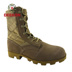 Winter Waterproof Desert Army Tactical Boots Military Boot Real Leather Shoes