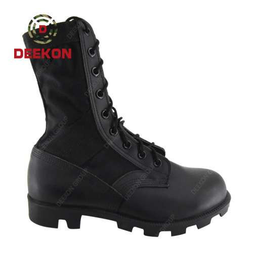 Army Safety Shoes Military Combat Tactical Cow Leather with High Quality Canvas boots