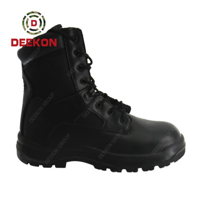 Tactical Boots Combat Military 1000D Nylon Waterproof Canvas Cow Leather Boots