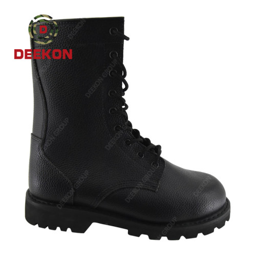 Hot Sale Genuine Leather Military Safety Army Footwear Boots for Men's