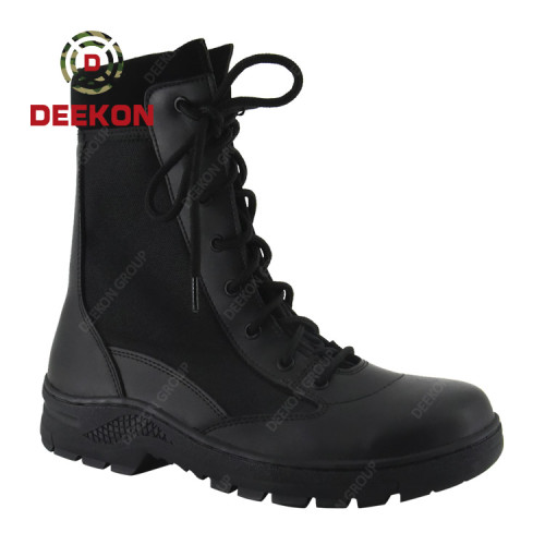 Custom Leather Waterproof Wear-Resist Rubber Outsole Tactical military Combat boots