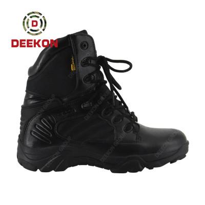 Deekon Men Light Weight Black Suede Leather Tactical Combat Boots