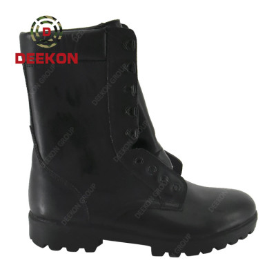 Factory Supply Military Army Boots Men Black Leather Combat Work Shoes