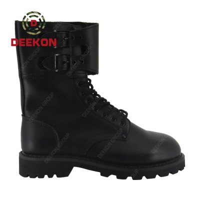 Black Leather Anti Slip Steel Toe Light Weight Army military tactical Boots