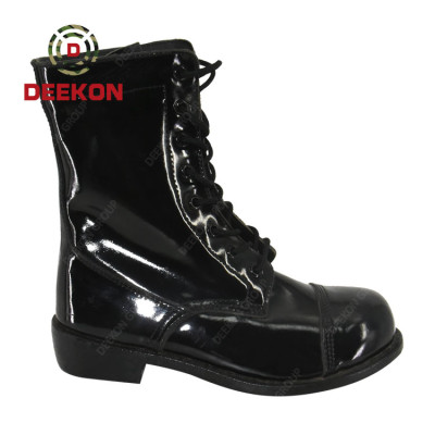 New Style Army Tactical Combat Shinny Leather Military Boots
