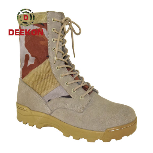 Desert Camouflage Military Waterproof Combat Tactical boots for Army Using