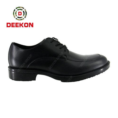 Deekon New Design Lace-up Non-slip First Cow Leather Boots for Mongolia Police