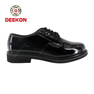 Deekon Supply Shinny Leather Shoes to Kenya Army Officers
