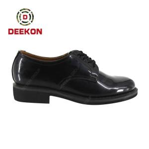 Deekon Supply Black Genuine Leather Anti-slip Tactical Shoes