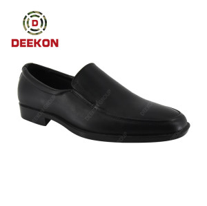 Deekon 2021 New Design High-quality Personality Black Leather Shoes For Men
