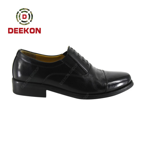 Deekon Supplied Police Officer Smooth Leather Men Formal Shoes