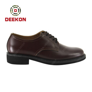 Deekon Fashion Lace-up Brown Dress Men's Leather Shoes for Military Army