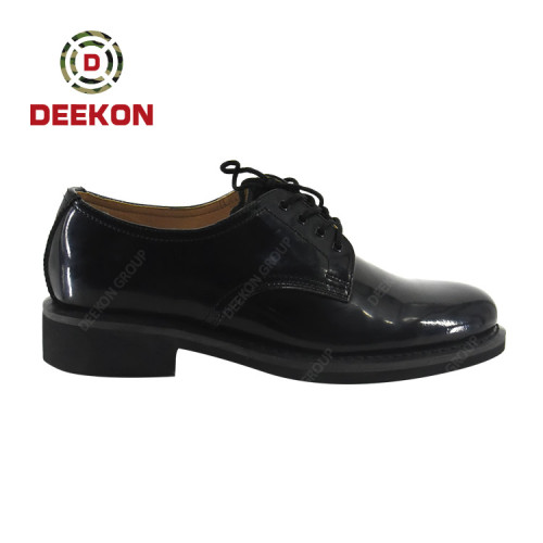 Deekon Lace Up Army Black Leather Officer Men Military Dress Shoes