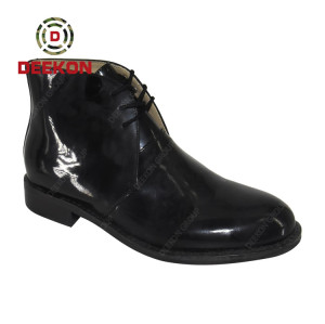 Deekon New Design Military Tactical Army Officer Police Shoes With Rubber Sole
