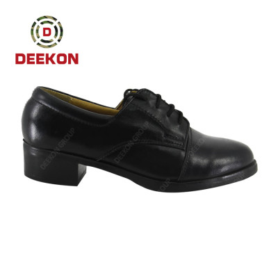 Quality Custom Lace up Rubber Sole Formal Office Daily Military Genuine Cow Leather Shoes