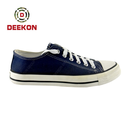 High quality Hard Wearing Lace-up Rubber Sole Canvas Shoes