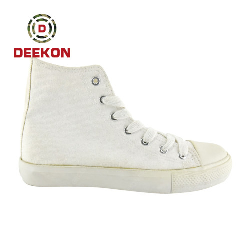 High Quality Custom Rubber Outsole Shoes Casual White Canvas Shoes