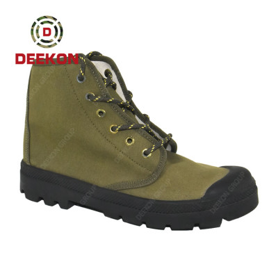 High Quality Lace-up Army Green Latest Customize Canvas Shoes