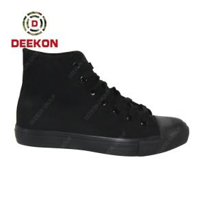 Deekon Supply for Combat Black Color Rubber Sole Canvas