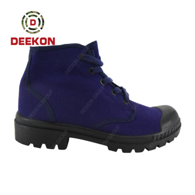 Military Blue Color Outdoor Army Military Combat Canvas Shoes
