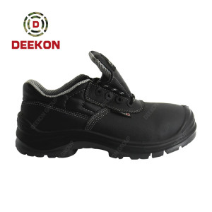 Deekob Men's Lace up army safety shoes Military Tactical Boots