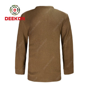 Deekon supply Kahki color round-neck collar wool sweater for military army use