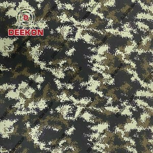 Thailand Woodland Digital Camouflage 100% Nylon Backpack Fabric Supplier with Waterproof Company