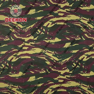 CVC 60/40 French Twill Camoflage Fabric with Waterproof for Military Apparel Company