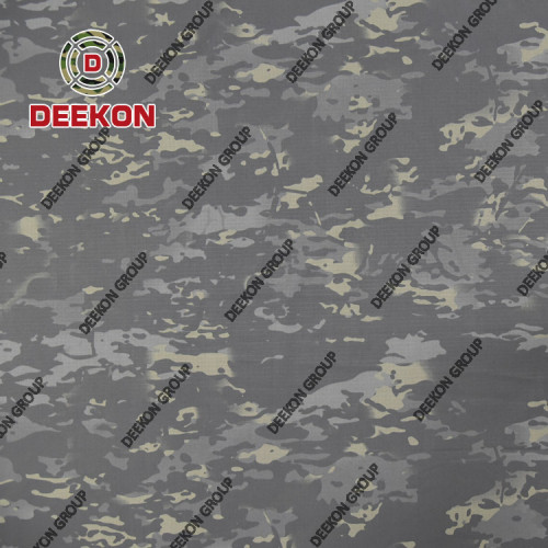 Thailand Black Multicam Scorpion NC 50/50 Fabric with Anti-Bacteria for Police Special Department