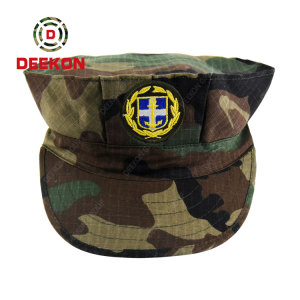 Deekon Manufactured Woodland Camouflage Pattern Cap for Cyprus Army