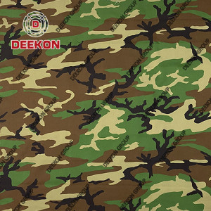 Woodland NC 50/50 Uniform Camouflage Fabric with Anti-Infrared for BDU Uniform Wholesaler