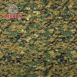 Woodland Digital Cotton 60% Polyester 40% Ripstop Camouflage Fabric with WR for Military Uniform Company