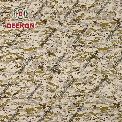 Desert Digital Supplier Nylon 50% / Cotton 50% Camo Fabric with Anti-Bacteria Waterproof