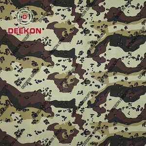 6 Color Desert Chocolate TC 65/35 Ripstop Camo Pattern Fabric Supplier for Combat Uniform