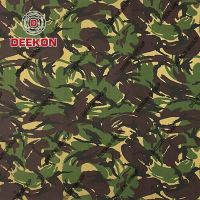 Woodland Desert TC 65/35 Ripstop Camo Pattern Fabric with Waterproof Supplier