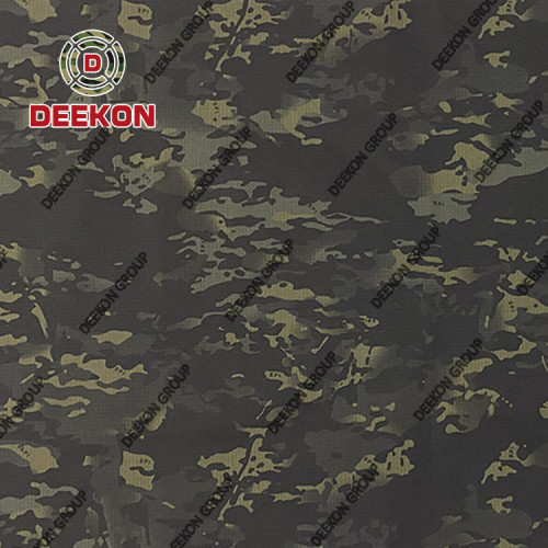 Supplier Black Multicam NC 50/50 Ripstop Camouflage Fabric with Anti-Bacteria Winkle Free for Thailand Police
