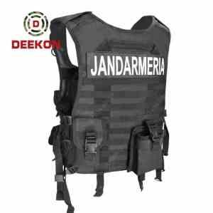 Wholesale Black Military Vest Supplier Tactical Police Vest for Heavy Duty