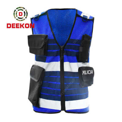 Factory Sale Police Vest Manufacturer Outdoor Safety Blue Molle Military Combat Vest