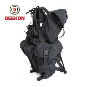 Factory Military Tactical Vest Supplier Black Polyester Military Vest
