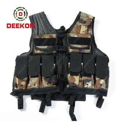 Military Tactical Vest Supplier Camo Nylon Combat Vest