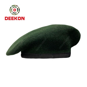 China Factory Supply High quality Army 100% Wool Men's Custom Military Beret Cap
