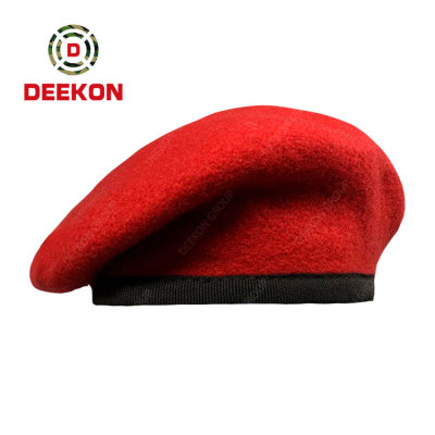 Cheap Price Custom 100% Wool Military Men Purple/Red/Blue/Olive Green Army Tactical Berets Hat