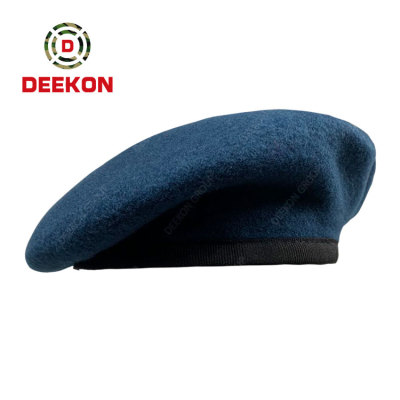Deekon Manufacture Blue Color Wool Beret for the Philippines Police